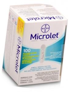 Bayer Microlet Diabetic Lancets - 100 Lancets