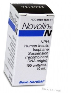 Novolin N Insulin, 100 Units/mL, 10mL Vial