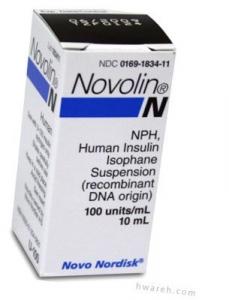 Novolin N Insulin, 100 Units/mL, 10mL Vial