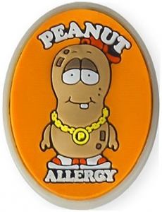 """AllerMates Peanut Allergy Charm for Multi-Allergy Wristband - """"P. Nutty"""""""