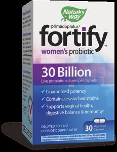 Nature's Way FORTIFY, 30 Billion Women's Probiotic Vegetarian Capsules- 30ct