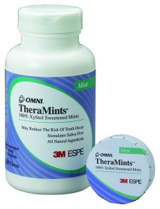 TheraMints 100% Xylitol Sweetened Mints, Mint Flavor with Travel Tin - 520ct