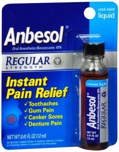 Anbesol Liquid Regular Strength Cool Mint - 0.41oz