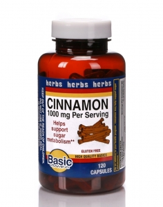 Basic Vitamins Cinnamon 1000mg per serving 120 capsules