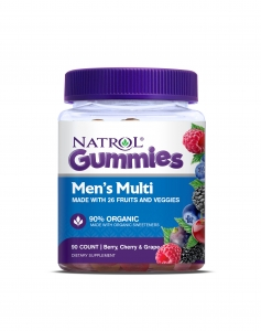 Natrol Men's Multi Gummies, Berry, Cherry & Grape flavors, 90ct