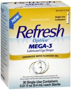 Refresh Optive Mega-3 Lubricant Eye Drops 30 ct