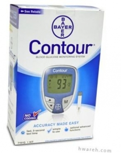 Bayer Contour Diabetes Blood Glucose Monitoring System - Pacific Blue