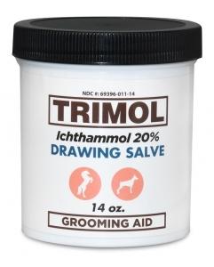 Trimol Ichthammol 20% Ointment Drawing Salve - 14oz jar (Veterinary Use)