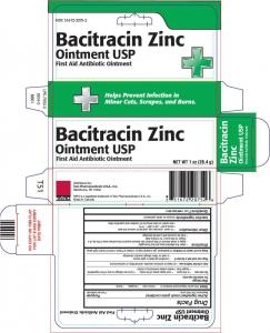 Bacitracin Zinc Ointment 0.5oz
