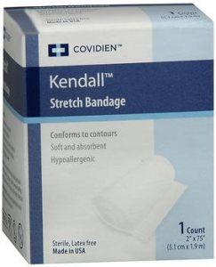 """Kendall Curity Stretch Bandage, 2"""" x 75"""""""
