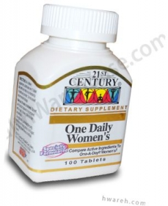 One Daily Women's Health Supplement - 100 Tablets
