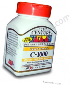 Vitamin C 1000mg with Rose Hips - 110 CapletsMFG DISCONTINUED 2/13/14