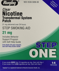 Rugby Nicotine Transdermal System Step 1 (21mg) - 14 Patches