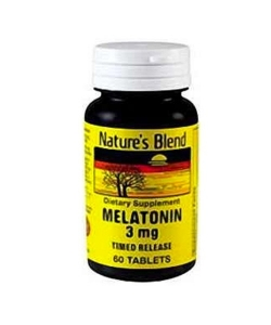 Nature's Blend Melatonin 3 mg Time-Release Tablets 60ct
