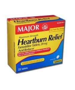 Major Heartburn Relief Maximum Strength Tablets 25ct