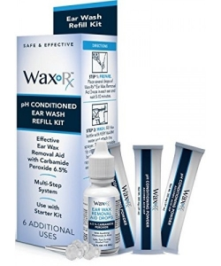 Doctor Easy Wax-Rx pH Conditioned Ear Wash System Refill Kit, 1.7 ounce