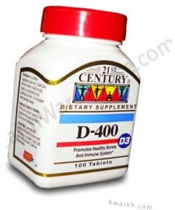 Vitamin D 400 IU - 100 Tablets