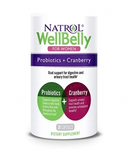 Natrol Wellbelly Probiotics Cranberry For Women 30 Capsules