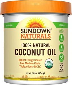 Sundown Naturals 100% Natural Coconut Oil, 16 oz