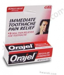 Orajel (Benzocaine 10%) Regular Strength Gel - 0.25 oz***otc Discontinued  2/24/14