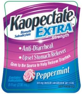 Kaopectate Extra Strength Liquid Anti-Diarrheal Peppermint - 8 oz