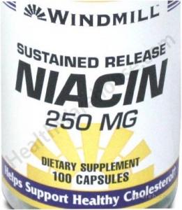 Niacin 250mg - 100 Capsules