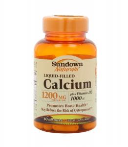 Sundown Naturals Calcium 1200mg with D3 - 60 Softgels