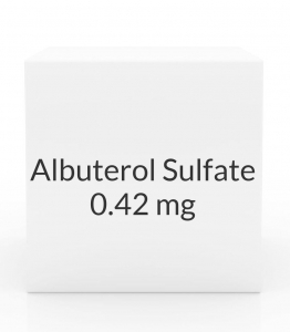 Albuterol Sulfate 0.42mg/ml Inhalation Solution- (25x3ml)