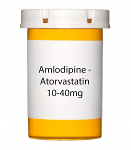 Amlodipine-Atorvastatin 10-40mg Tablets - 30 Count Bottle
