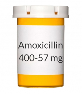 Amoxicillin/Clavulanate 400-57mg Chew Tablets