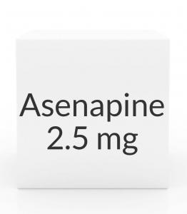 Asenapine (Saphris) 2.5 mg Sublingual Tablets - Box of 60 (Greenstone)