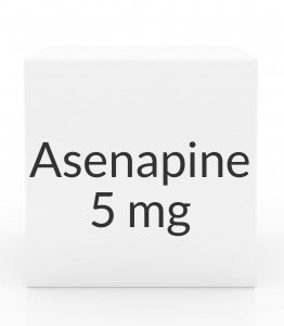 Asenapine (Saphris) 5 mg Sublingual Tablets - Box of 60 (Greenstone)
