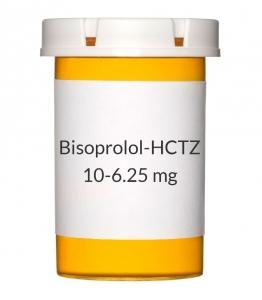 Bisoprolol-HCTZ 10-6.25mg Tablets (Generic Ziac)