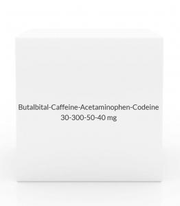 Butalbital-Caffeine-Acetaminophen-Codeine 30-300-50-40mg Capsules