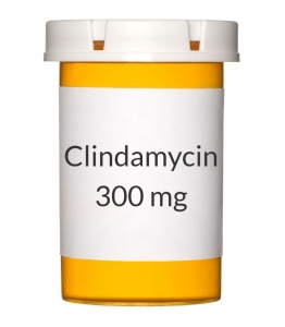 how to take clindamycin 300 mg