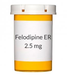 Felodipine ER 2.5mg Tablets (Generic Plendil)