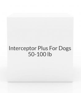 Interceptor Plus For Dogs 50-100lbs- 12 tablet pack (Blue)