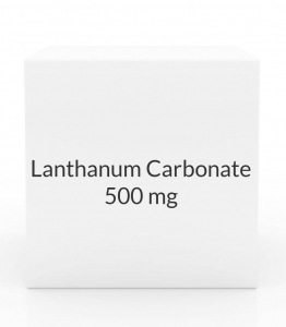 Lanthanum Carbonate 500mg Chew Tablets- 90 Tab Pack (Prasco)