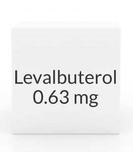 Levalbuterol 0.63mg/3ml Inhalation Solution- 25 Vial Pack