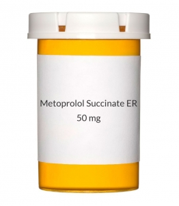 Metoprolol Succinate ER 50mg Tablets (Generic Toprol XL)