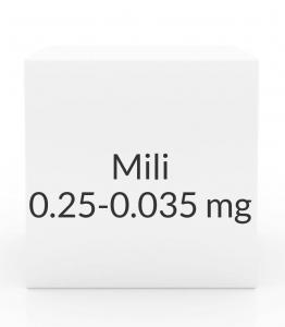 Mili 0.25-0.035mg Tablets- 28 Tablet Pack