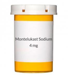 Montelukast Sodium 4 mg Chewable Tablets (Generic Singulair)