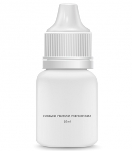 Neomycin-Polymyxin-Hydrocortisone 1% Otic (Ear) Solution (10 ml Dropper)
