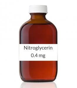 Nitroglycerin 0.4mg Sublingual Tablets (Generic Nitrostat) - 100 Tablet Bottle