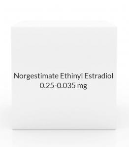 Norgestimate Ethinyl Estradiol 0.25-0.035mg Tablets- 28 Tab Pack