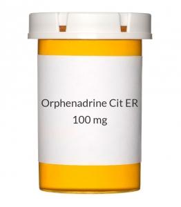 Orphenadrine Cit ER 100mg Tablets