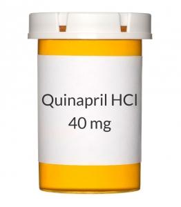 Quinapril HCl 40 mg Tablets (Generic Accupril)