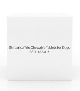 Simparica Trio Chewable Tablets for Dogs, 88.1-132.0 lb, 6 treatments (Brown Box)
