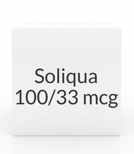 Soliqua 100/33mcg/ml - 5x 3ml Pre-Filled Injection Pens Pack