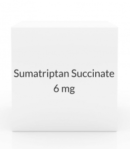 Sumatriptan Succinate 6mg/0.5ml Injection Refill (2 Cartridge Pack)